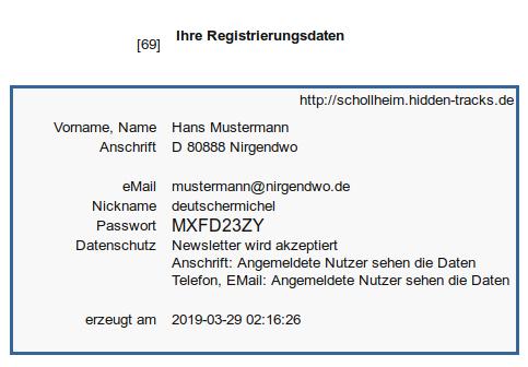 Details | So sieht die Mail zur Registrierung aus